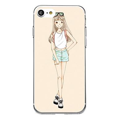Kılıf Na iPhone 7 Plus iPhone 7 iPhone 6s Plus iPhone 6 Plus iPhone 6s iPhone 6 iPhone 5 Apple Ultra cienkie Wzór Czarne etui Seksowna