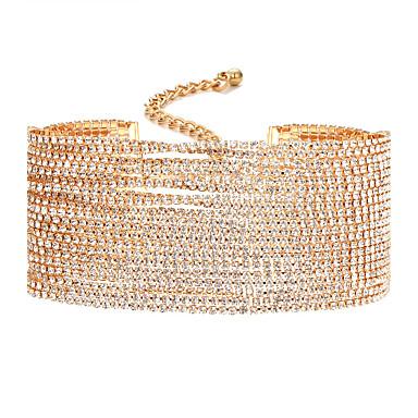 Kadın's Sentetik Pırlanta Gerdanlıklar - Eşsiz Tasarım Altın, Gümüş Kolyeler Uyumluluk Düğün, Parti, Günlük