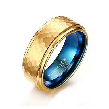 Heren Ring Gepersonaliseerde Standaard Modieus Euramerican Eenvoudige Stijl Verguld Wolfraamstaal Rond Cirkelvorm Geometrische vorm