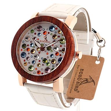 للمرأة ساعات فاشن ساعة المعصم فريدة من نوعها الإبداعي ووتش ساعة كاجوال خشبساعة ياباني كوارتز كوارتز ياباني خشبي جلد طبيعي فرقة عتيقة كوول