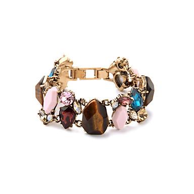 Kadın's Zincir & Halka Bileklikler Mücevher Arkadaşlık lüks mücevher alaşım Flower Shape Geometric Shape Gökküşağı Mücevher IçinParti