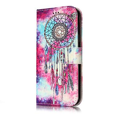 Maska Pentru Samsung Galaxy J7 (2016) J5 (2016) Portofel Titluar Card Cu Stand Întoarce Model Corp Plin Fluture Prinzător de vise Greu PU