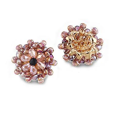 Pentru femei Cercei Stud Cristal Personalizat Euramerican Floral Aliaj Bijuterii Pentru Nuntă Petrecere Zi de Naștere
