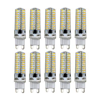 HKV 10pcs 5 W Luces LED de Doble Pin 400-500 lm G9 G4 G8 T 80 Cuentas LED SMD 4014 Regulable Blanco Cálido Blanco Fresco 220 V 110 V / 10 piezas / Cañas