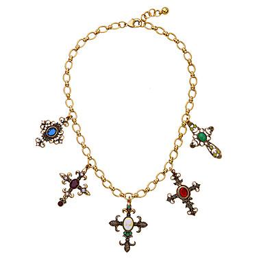 Damskie Łańcuszki na szyję Kryształ Modny Osobiste euroamerykańskiej minimalistyczny styl Gold Biżuteria Na Ślub Impreza 1szt