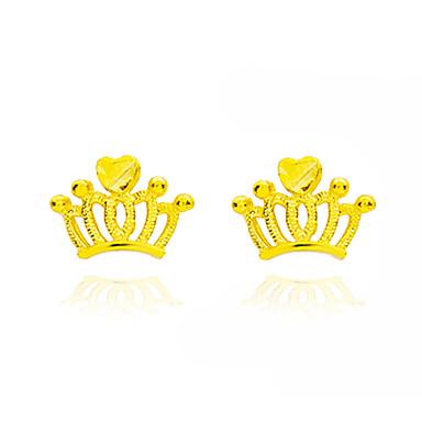 Damskie Kolczyki na sztyft Unikalny Vintage Miedź Crown Shape Biżuteria Ślub Impreza Zaręczynowy Cicha sympatia