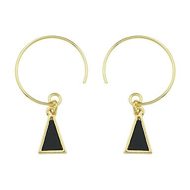 للمرأة أقراط قطرة هندسي تصميم دائري تصميم فريد سبيكة دائري مثلث Geometric Shape مجوهرات يوميا فضفاض