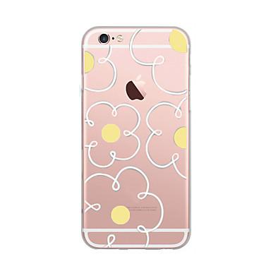 Für Hüllen Cover Ultra dünn Muster Rückseitenabdeckung Hülle Blume Weich TPU für Apple iPhone 7 plus iPhone 7 iPhone 6s Plus iPhone 6