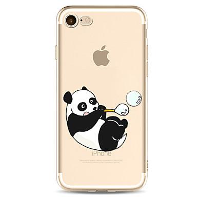 Maska Pentru Apple Transparent Model Carcasă Spate Desene Animate Panda Moale TPU pentru iPhone 7 Plus iPhone 7 iPhone 6s Plus iPhone 6