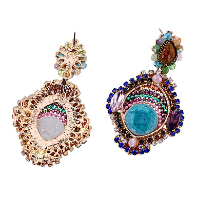 Kolczyki Ustaw Kryształ Modny Osobiste euroamerykańskiej minimalistyczny styl Stop Niebieski Biżuteria Na Ślub Impreza Urodziny 1 para