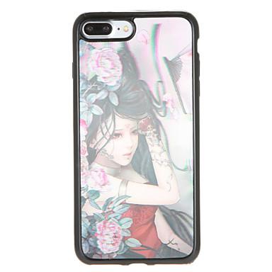 Για Με σχέδια tok Πίσω Κάλυμμα tok Σέξι κυρία Λουλούδι Μαλακή TPU για AppleiPhone 7 Plus iPhone 7 iPhone 6s Plus iPhone 6 Plus iPhone 6s