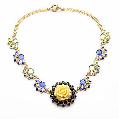 Damskie Naszyjniki choker Kryształ Modny Osobiste euroamerykańskiej Kwiaty Biżuteria Na Ślub Impreza