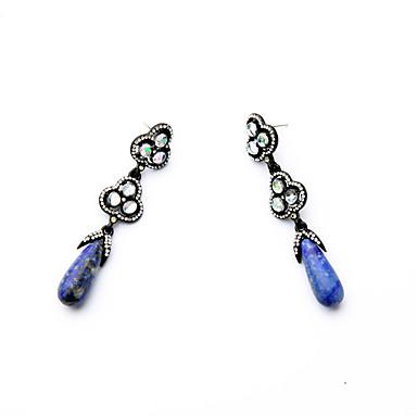 Kolczyki koła Kryształ Modny Osobiste euroamerykańskiej Niebieski Biżuteria Na Ślub Impreza Urodziny 1 para