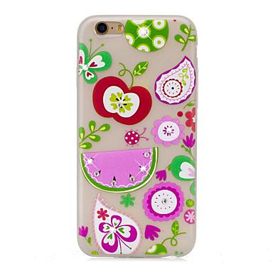 Pentru Carcase Huse Stras Stralucire in intuneric Model Carcasă Spate Maska Fluture Fruct Moale TPU pentru Apple iPhone 7 Plus iPhone 7