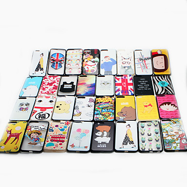 Case For iPhone 7 Plus Apple Pattern Back Cover Cartoon Hard PC for iPhone 7 Plus