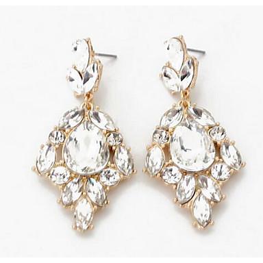 Pentru femei Diamant sintetic Zirconiu Cercei Picătură - Stil Atârnat / Euramerican / Modă Argintiu cercei Pentru Nuntă / Petrecere /