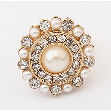 Herrn Damen Bandringe Ring Imitierte Perlen Personalisiert Blumig Einzigartiges Design Logo Stil Klassisch Retro Böhmische Grundlegend
