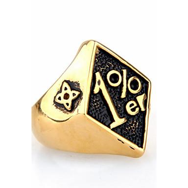 للرجال خاتم خاتم البيان ذهبي أسود أحمر الصلب التيتانيوم Geometric Shape مخصص euramerican في هيب هوب موضة Rock بانغك هدايا عيد الميلاد حزب