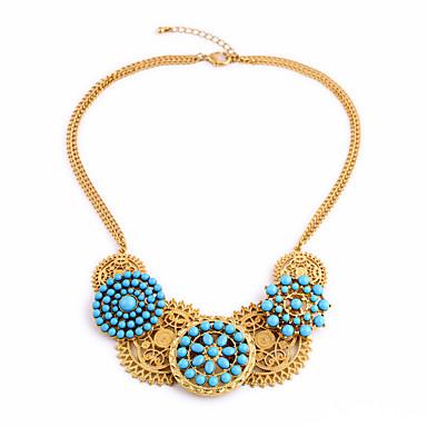 Damskie Pasemka Naszyjniki Flower Shape Unikalny Osobiste Light Blue Biżuteria Na 1szt