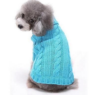 Psy Swetry Ubrania dla psów Zima Kreskówka Modny Codzienne Czerwony Niebieski Różowy