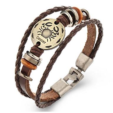 Heren Dames Lederen armbanden Vintage Kostuum juwelen Leder Geometrische vorm Sieraden Voor