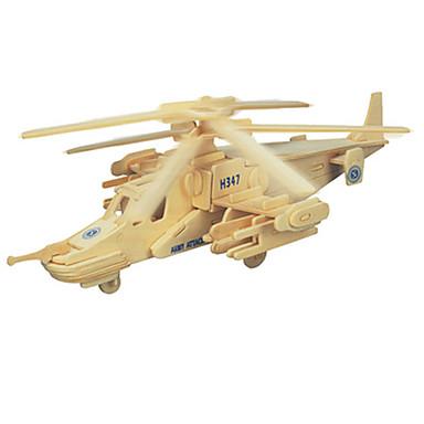 3D-puzzels Hout Model Speeltjes Vliegtuig Hout Unisex Stuks