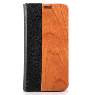 Etui Käyttötarkoitus Samsung Galaxy S7 edge S7 Korttikotelo Tuella Flip Magneetti Kokonaan peittävä Yhtenäinen väri Kova Puu varten S7