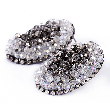 Kolczyki Ustaw Kryształ Okragły Modny Osobiste euroamerykańskiej Stop Silver Biżuteria Na Ślub Impreza Urodziny 1 para