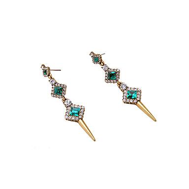Cercei Rotunzi Cristal La modă Personalizat Euramerican Verde Bijuterii Pentru Nuntă Petrecere Zi de Naștere 1 pereche