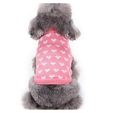 Koira Neulepaidat Koiran vaatteet Joulu Rento/arki Muoti Piirretty Pinkki Asu Lemmikit