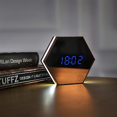 متعددة الوظائف صورة ساعة رقمية المنبه الصمام ليلة مصباح صغير أن درع العين ماكياج مرآة