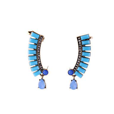 Κρίκοι Κρυστάλλινο Μοναδικό Εξατομικευόμενο Euramerican Μπλε Κοσμήματα Για Γάμου Πάρτι Γενέθλια 1 ζευγάρι