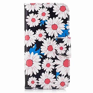 غطاء من أجل Samsung Galaxy A5(2017) A3(2017) محفظة حامل البطاقات مع حامل قلب نموذج كامل الجسم زهور قاسي جلد اصطناعي إلى A3 (2017) A5