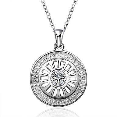 Pentru femei Rotund Circle Shape Geometric Shape Personalizat Γεωμετρικά Design Unic Stil Atârnat Pandantiv Clasic Vintage Stras Boem De