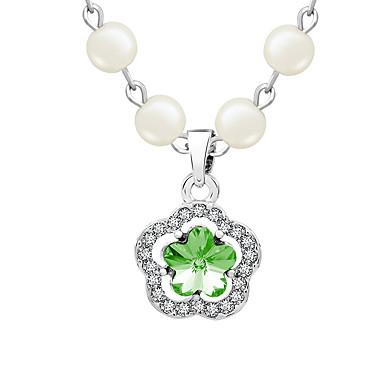 Damskie Naszyjniki z wisiorkami Kryształ Unikalny Kwiaty Modny Osobiste euroamerykańskiej Biżuteria Na Ślub Impreza