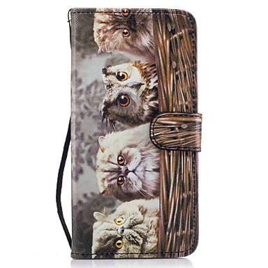 Etui Käyttötarkoitus Samsung Galaxy S8 Plus S8 Lomapkko Korttikotelo Tuella Flip Kuvio Magneetti Kokonaan peittävä Pöllö Kova PU-nahka