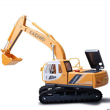 KDW سيارة الحفريات Excavator لعبة الشاحنات ومركبات البناء لعبة سيارات معدن للأطفال ألعاب هدية