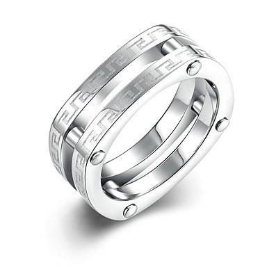 Pentru femei Verighete stil minimalist de Mireasă Modă Oțel titan Rotund Bijuterii Cadouri de Crăciun Nuntă Petrecere Ocazie specială