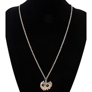 billige Mode Halskæde-Dame Kort halskæde Halskædevedhæng Kædehalskæde Imiteret Diamant Dyreformet Smykker RhinstenEnkelt design Unikt design Logo Kærlighed