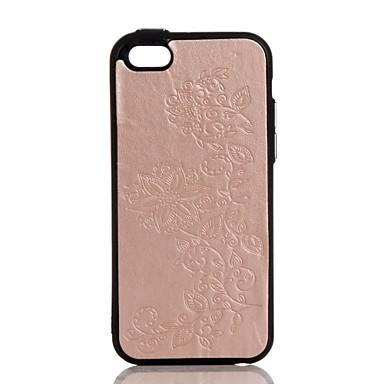 tok Για Apple iPhone 7 Plus iPhone 7 Ανάγλυφη Πίσω Κάλυμμα Λουλούδι Σκληρή PU δέρμα για iPhone 7 Plus iPhone 7 iPhone 6s Plus iPhone 6s