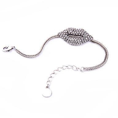 Kadın's Zincir & Halka Bileklikler Arkadaşlık Moda alaşım Round Shape Mücevher Için Parti Özel Anlar 1pc