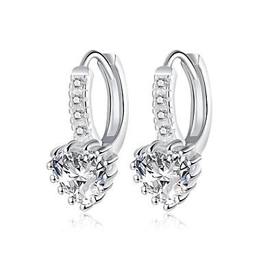 Dames Ring oorbellen Zirkonia Gepersonaliseerde Meetkundig Uniek ontwerp Hangende stijl Klassiek Vintage Tekojalokivi Bohémien Standaard