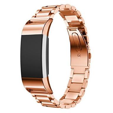 Uita-Band pentru Fitbit Charge 2 Fitbit Banderola Sport Metal Oțel inoxidabil Curea de Încheietură