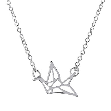 Kadın's Uçlu Kolyeler Kristal Eşsiz Tasarım Moda Kişiselleştirilmiş Euramerican Altın Gümüş Mücevher Için Düğün Parti 1pc