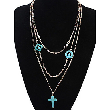 Damskie Křížky Inne Kształt Spersonalizowane Kwiatowy Biżuteria religijna Klasyczny Vintage Rhinestone Podstawowy Seksowny Natura