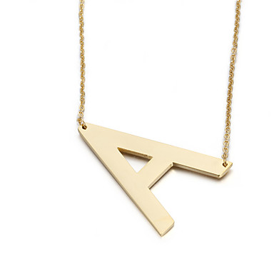Dames Hangertjes ketting Alfabetvorm Roestvast staal Modieus Initial Jewelry Sieraden Voor Feest Verjaardag Dagelijks Causaal Kerstcadeaus