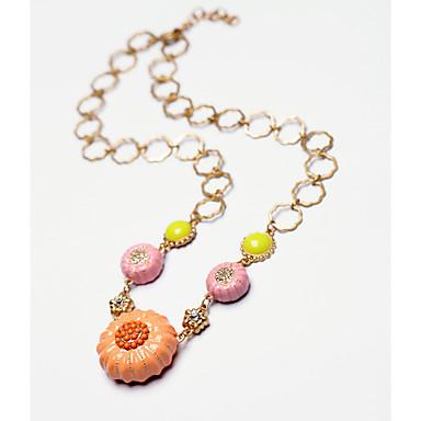 Pentru femei Coliere cu Pandativ Flower Shape Design Unic La modă Roz Bijuterii Pentru Zi de Naștere Zilnic 1 buc