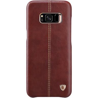 Hülle Für Samsung Galaxy S8 Plus S8 Ultra dünn Rückseitenabdeckung Volltonfarbe Hart Echtes Leder für S8 S8 Plus