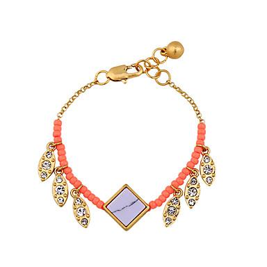 Dames Armbanden met ketting en sluiting Vriendschap Bohemia Style Modieus Legering Rechthoekige vorm Sieraden Voor 1 stuks