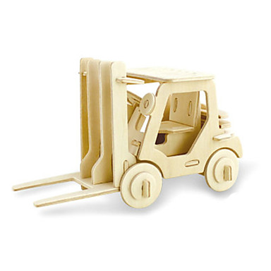 3D - Puzzle Spielzeuge Gabelstapler Holz Unisex Stücke